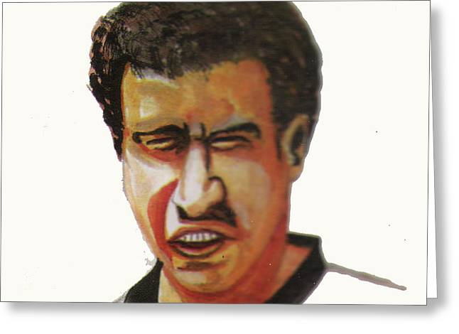 Younes El Aynaoui Greeting Card by Emmanuel Baliyanga