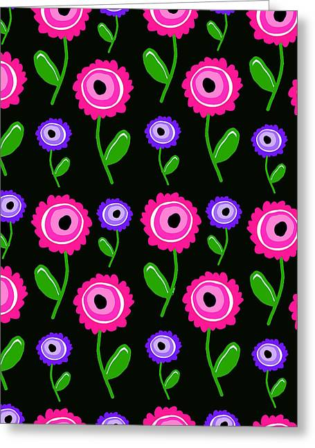 Young Digital Art Greeting Cards - Young Florals  Greeting Card by Louisa Knight