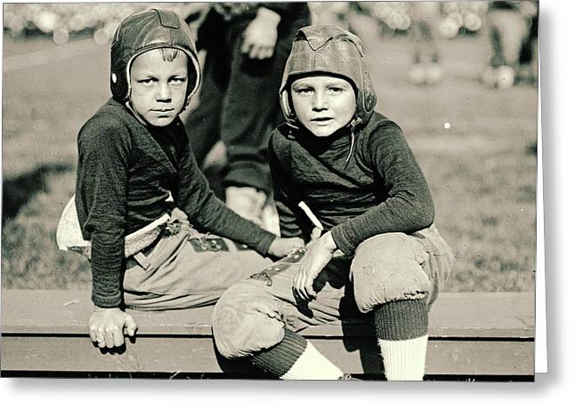 Ewing Greeting Cards - Young Football Fans 1920 Greeting Card by Padre Art