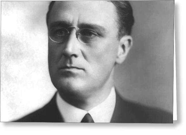 Young Franklin Delano Roosevelt Greeting Card by War Is Hell Store