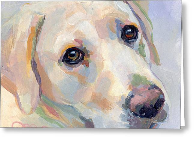 Dog Paw Greeting Cards - Young Man Greeting Card by Kimberly Santini