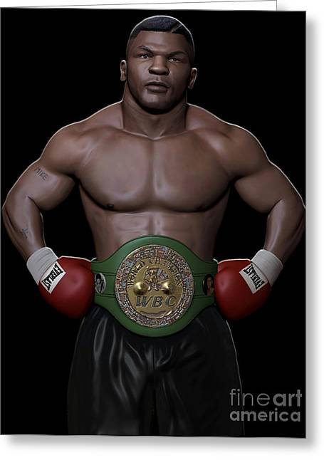 Young Mike Tyson Greeting Card by Douglas Petty