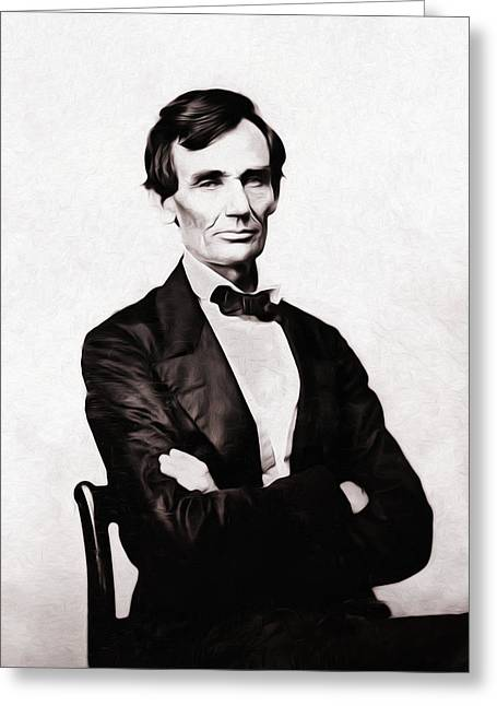 Republican Digital Art Greeting Cards - Young Mister Lincoln Greeting Card by Bill Cannon