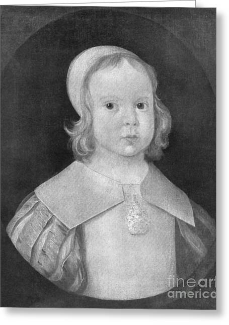 Protectorate Greeting Cards - Young Oliver Cromwell Greeting Card by Photo Researchers