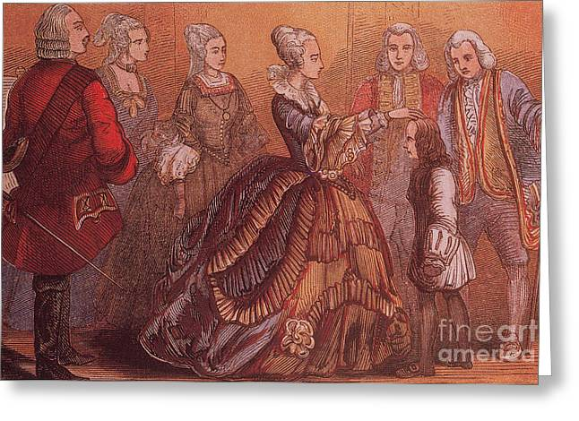 King; Samuel (18th Century) Greeting Cards - Young Samuel Johnson Receives The Royal Greeting Card by Photo Researchers