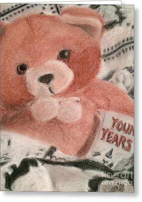 Nursery Rhyme Drawings Greeting Cards - Young Years Greeting Card by Jessica Grace Leahy