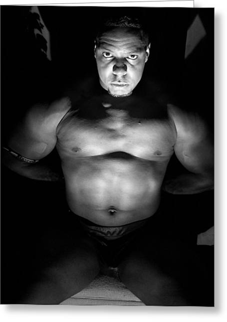 Georgia Bodybuilding Greeting Cards - Your Attention Please  Greeting Card by Jake Hartz