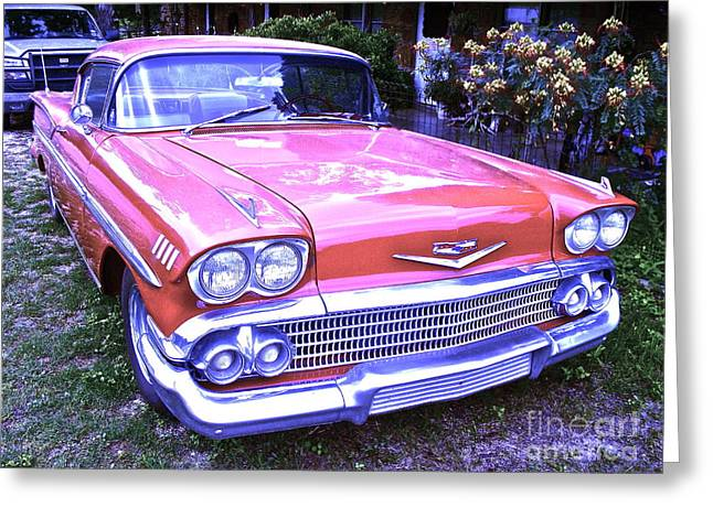 Beautiful Car Greeting Cards - Your Blue Heaven Greeting Card by Chuck Taylor