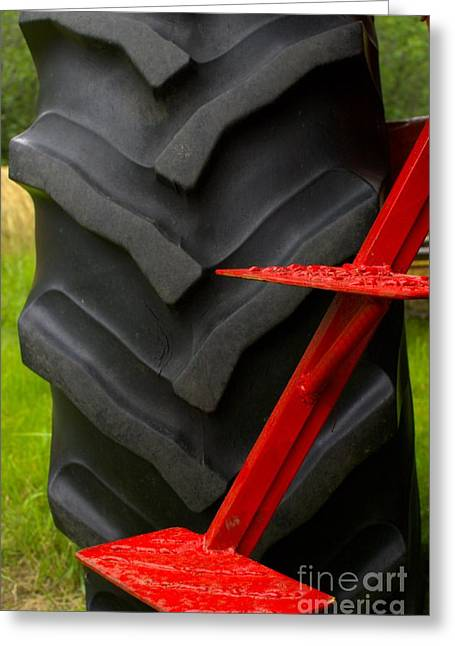 Tractor Tire Greeting Cards - Your Carriage Awaits Greeting Card by The Stone Age