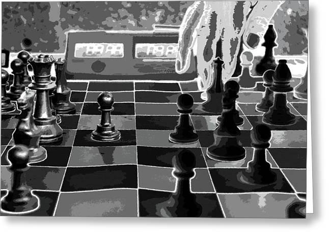 Chess Piece Digital Art Greeting Cards - Your Move Greeting Card by David Lee Thompson