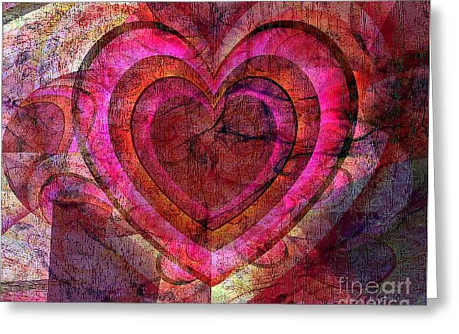 Sharing Mixed Media Greeting Cards - Your Own Heart Greeting Card by Fania Simon