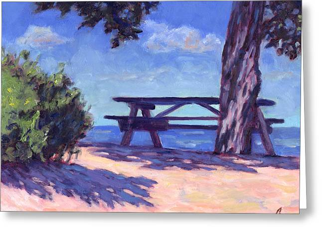 Picnic Table Greeting Cards - Your Table is Waiting Greeting Card by Michael Camp