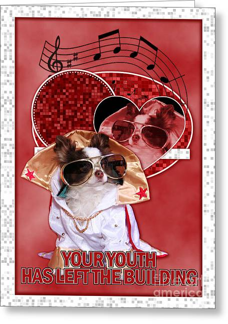 Owner Digital Greeting Cards - Your Youth Has Left the Building Greeting Card by Renae Laughner