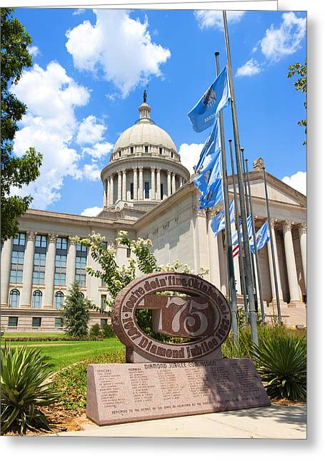 Public Administration Greeting Cards - Youre Doin Fine Oklahoma Greeting Card by Ricky Barnard