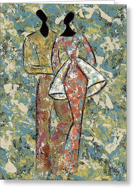 African-american Paintings Greeting Cards - Youre the One Greeting Card by Pamela Hilliard