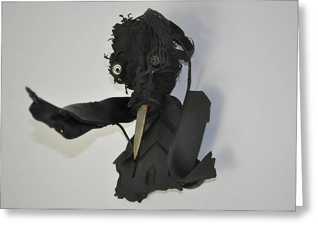 Expressive Sculptures Greeting Cards - Youre Tired Of My Nosey Allegations And Stabbing Remarks Greeting Card by Michael Jude Russo