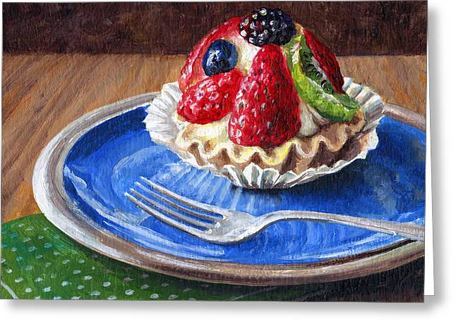 Kiwi Art Greeting Cards - Yummy Goodness Greeting Card by Lynette Cook