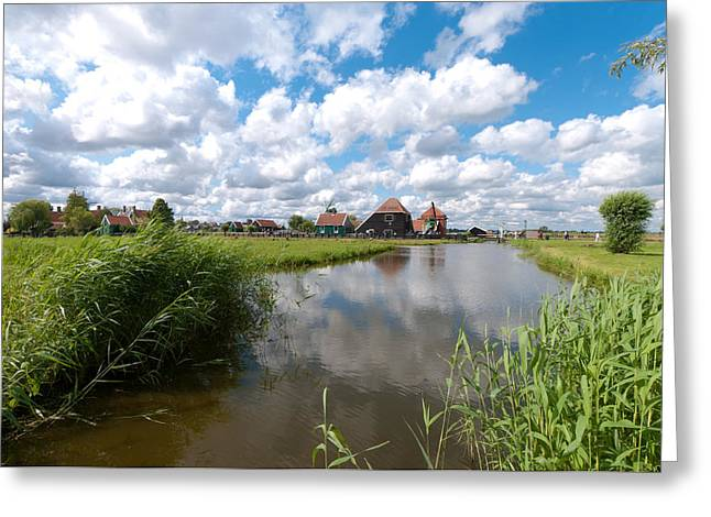 Zaans Greeting Cards - Zaanse Schans Greeting Card by Hans Engbers