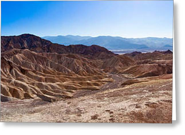 Michelangelo Greeting Cards - Zabriskie Point Panorama Greeting Card by Niels Nielsen