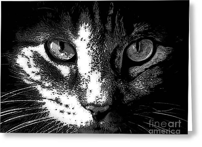 Felines Dale Ford Greeting Cards - Zack Greeting Card by Dale   Ford