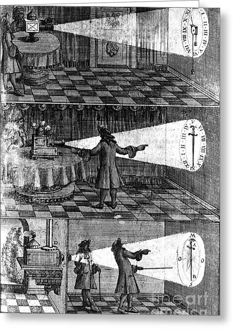 Oculus Greeting Cards - Zahn Light Projection Apparatus, 1685 Greeting Card by Science Source