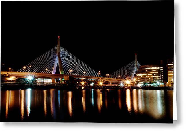 Zakim Over The Charles River Greeting Card by Richard Bramante