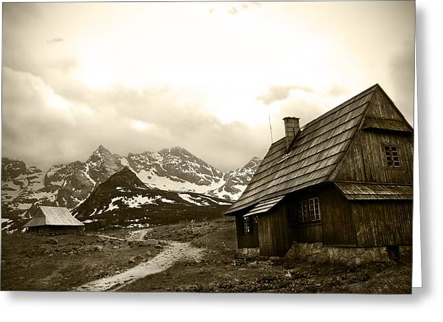 Cliffs And Houses Greeting Cards - Zakopane Mountains 01 Greeting Card by Kamil Swiatek