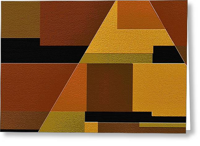 Geometrical Art Digital Art Greeting Cards - Zeal Greeting Card by Ely Arsha