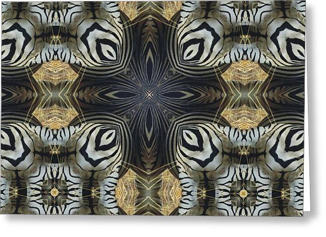 Magissimo Greeting Cards - Zebra Cross II Greeting Card by Maria Watt