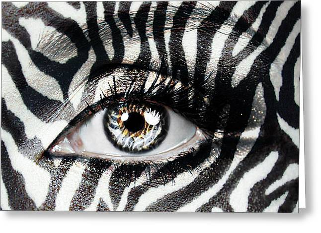 20-30 Greeting Cards - Zebra  Greeting Card by Yosi Cupano