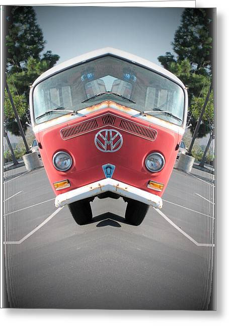 Magic Bus Greeting Cards - Zen Bus Greeting Card by J Burns