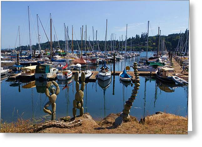 Bainbridge Island Greeting Cards - Zen Greeting Card by Heidi Smith