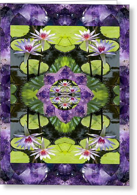 Close Up Photos Greeting Cards - Zen Lilies Greeting Card by Bell And Todd