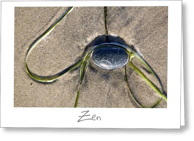 California Beach Art Greeting Cards - Zen Greeting Card by Peter Tellone