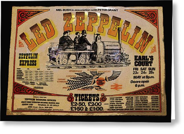 Led Zeppelin Artwork Greeting Cards - Zeppelin Express Greeting Card by David Lee Thompson