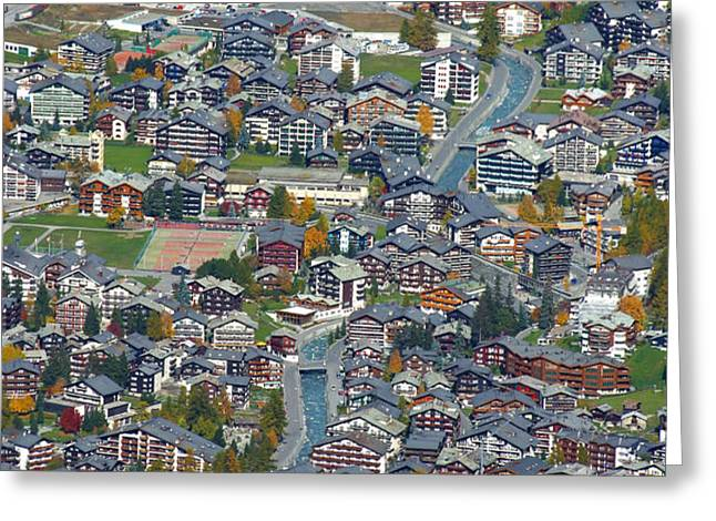 Zermatt from Klein Matterhorn Greeting Card by Stan and Anne Foster