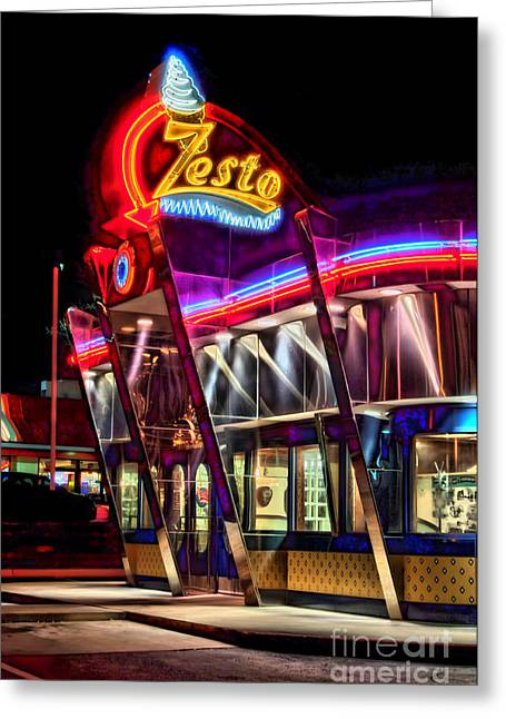 Photographers Decatur Greeting Cards - Zestos Greeting Card by Corky Willis Atlanta Photography