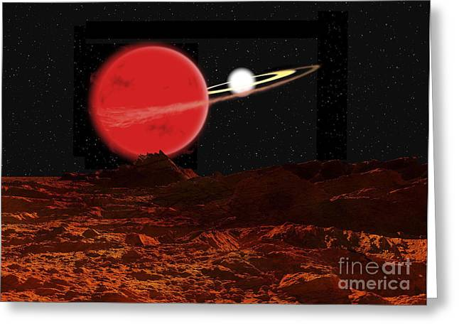 Astrogeology Greeting Cards - Zeta Piscium Is A Binary Star System Greeting Card by Ron Miller