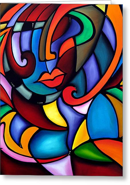 Fidostudio Greeting Cards - Zeus - Abstract Pop Art by Fidostudio Greeting Card by Tom Fedro - Fidostudio