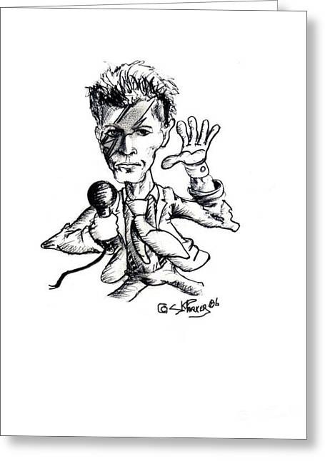 Cartoonist Drawings Greeting Cards - Ziggy Greeting Card by SK Parker