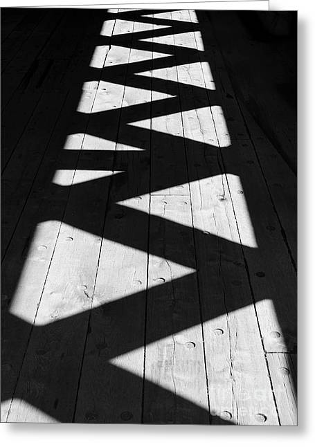 Shadowplay Greeting Cards - ZigZag  Greeting Card by Luke Moore