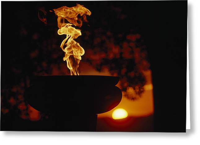 Eternal Flame Greeting Cards - Zimbabwes Eternal Flame Of Independence Greeting Card by James L. Stanfield
