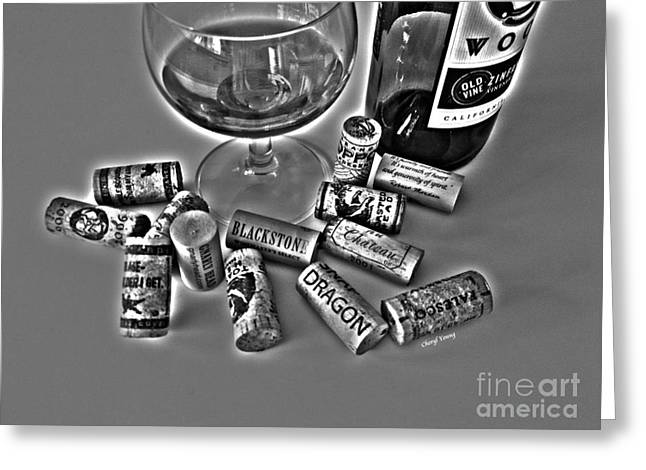 Zin Black and White Greeting Card by Cheryl Young