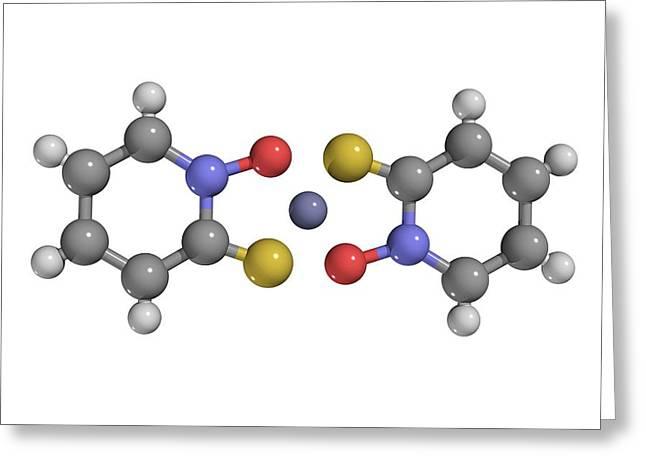 Affiliation Greeting Cards - Zinc Pyrithione Drug Molecule Greeting Card by Laguna Design