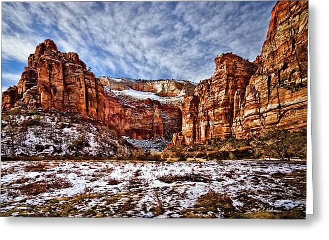 Christopher Holmes Greeting Cards - Zion Canyon In Utah Greeting Card by Christopher Holmes