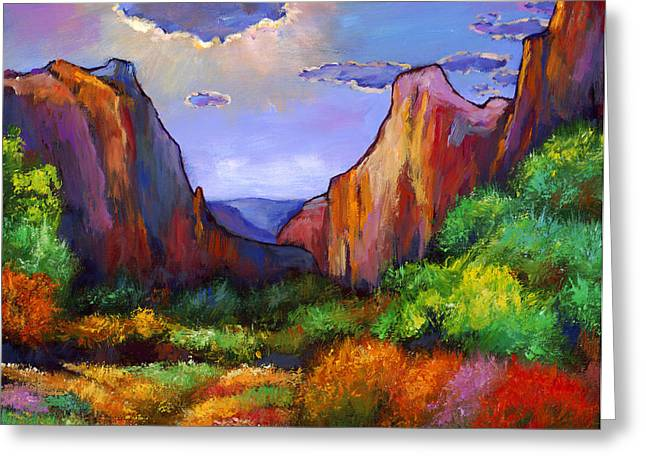 Zion Dreams Greeting Card by JOHNATHAN HARRIS