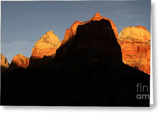 Zion The Great Wall Greeting Card by Bob Christopher