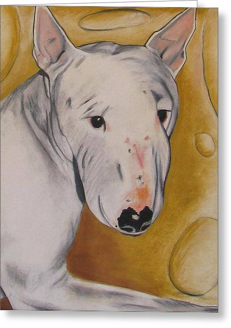 Terrier Pastels Greeting Cards - Zoe Greeting Card by Michelle Hayden-Marsan