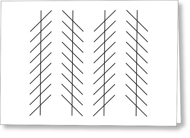 Psychology Photographs Greeting Cards - Zoellner Illusion Greeting Card by