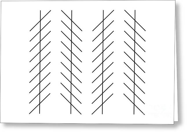 Zoellner Illusion Greeting Cards - Zoellner Illusion Greeting Card by SPL and Photo Researchers